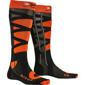 X-Socks Ski Control 4.0 Calcetines Hombre, anthracite melange/x-orange